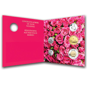 2013 RCM 5-Coin Wedding Gift Set (w/Rings Quarter & Card)